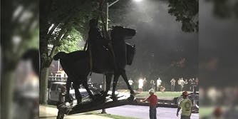 A Confederate statue in Baltimore is removed overnight