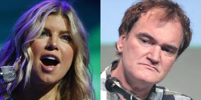 Fergie and Quentin Tarantino