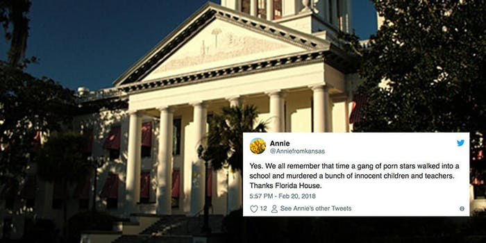 Florida's House of Representatives declared porn a health risk but doesn't consider a ban on assault weapons less than a week after Parkland shooting.