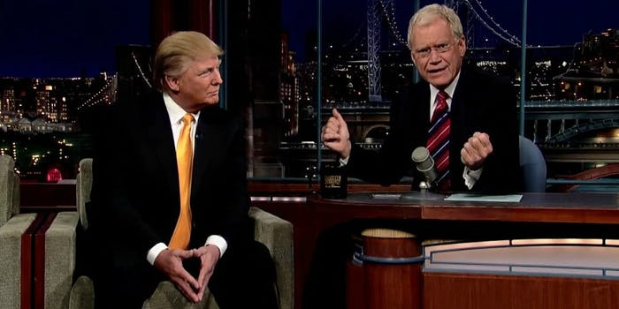 David Letterman Donald Trump interview