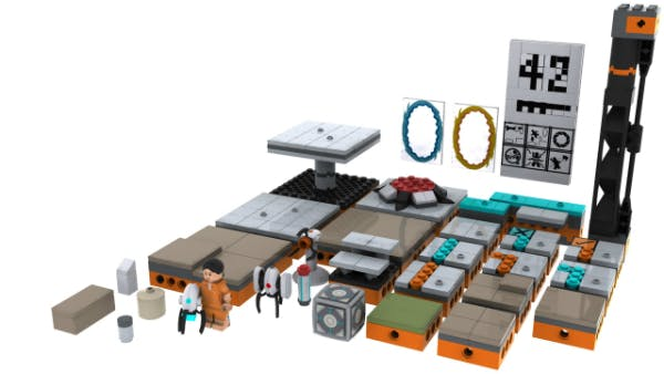 The Modular Testing Chamber from the proposed Portal line of Lego products