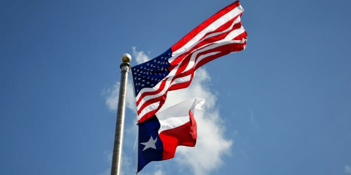 The U.S. and Texas flags