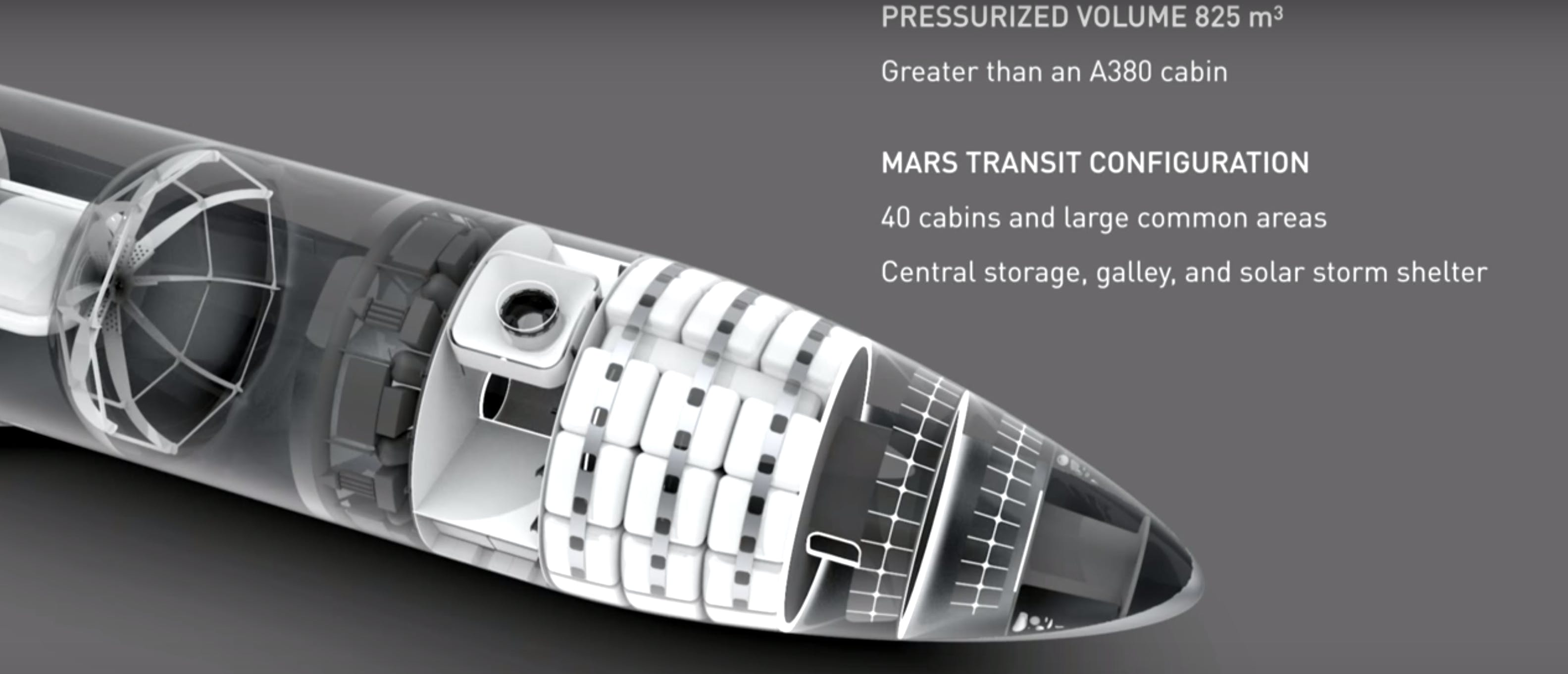 spacex bfr render of cabin