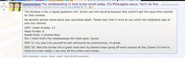 reddit thread rick and morty szechuan sauce