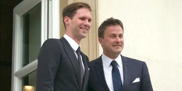 Xavier Bettel and Gauthier Destenay