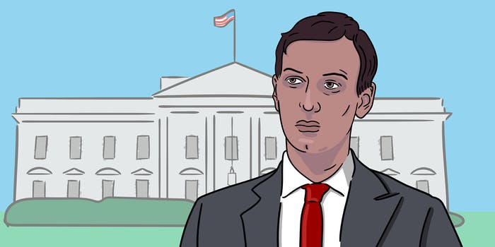 Jared Kushner in front of the White House