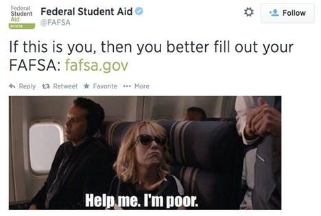 FAFSA Twitter social media mocking poor people