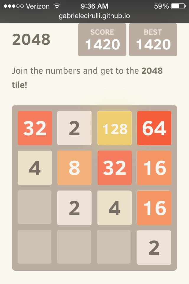 how to beat the game 2048