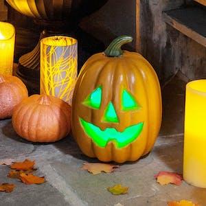pre-carved pumpkin