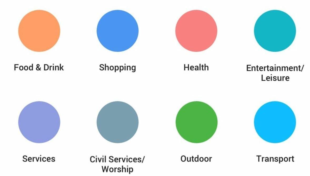 google maps colors