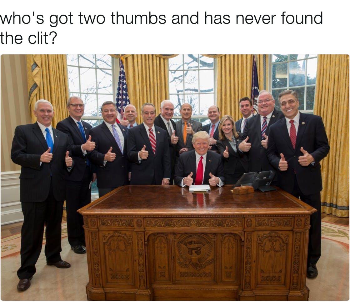 trump memes : 13 Republicans giving thumbs up