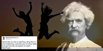 Mark Twain and an inspiration quote wrongly attributed to him by Anthony Scaramucci