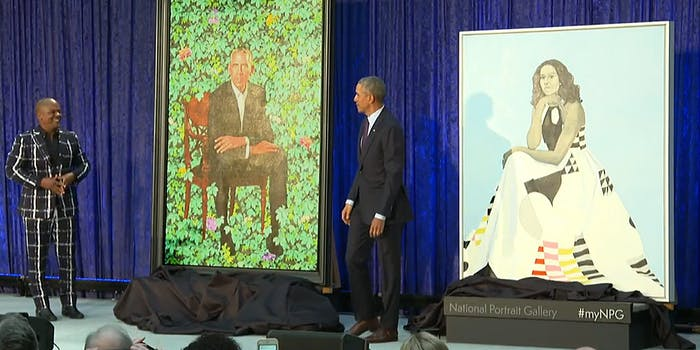 National Portrait Gallery unveils Barack and Michelle Obama portraits