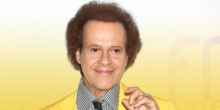 Richard Simmons in yellow suit