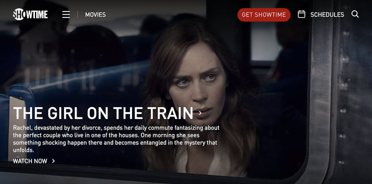 best streaming movie sites showtime