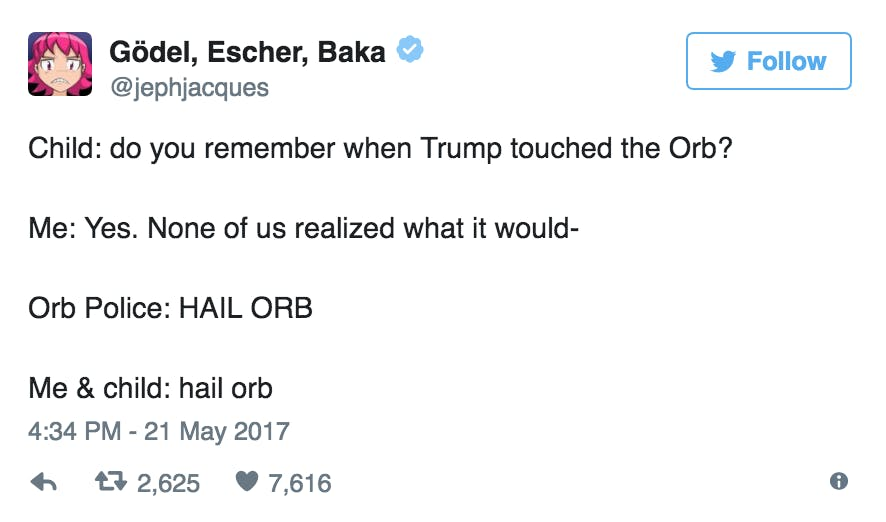 funny memes 2017 : Trump orb