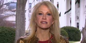 Kellyanne Conway in front of White House