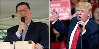 Pittsburg Mayor Bill Peduto and President Donald Trump