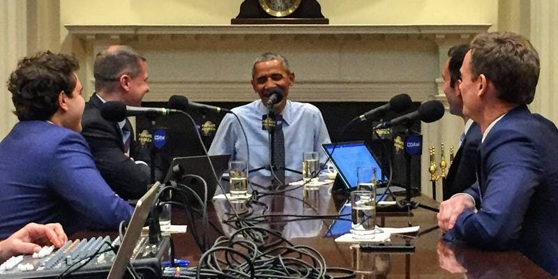 best political podcasts: Pod Save America with President Barack Obama
