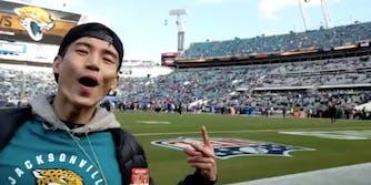 Manny Jacinto at the Jaguars game