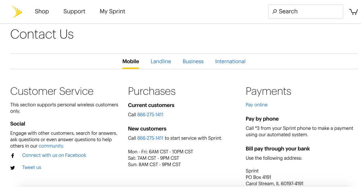 The fastest way to talk to a real person on Sprint customer service