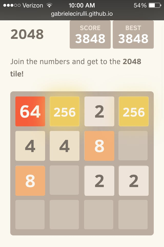 how to win at 2048
