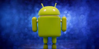 Android alien mascot toy