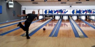Ben Ketola breaks the bowling world record for fastest perfect game.