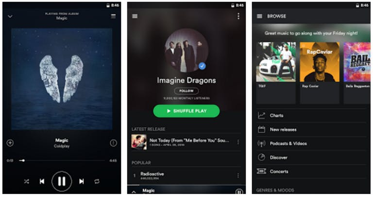 music player for android : spotify