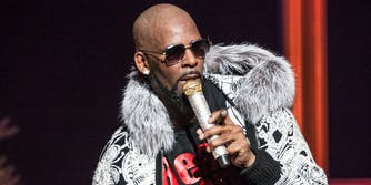R Kelly performing on stage