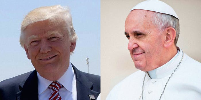 Donald Trump and Pope Francis