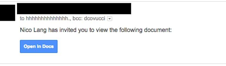 gmail phishing attempt: screengrab of phishing attempt