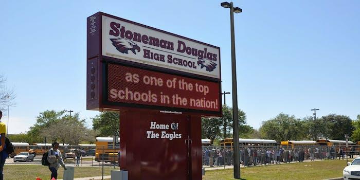 Marjory Stoneman Douglas High School's marquee sign.