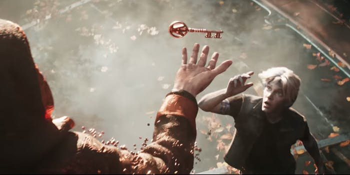 Ready Player One screenshot of character reaching for key
