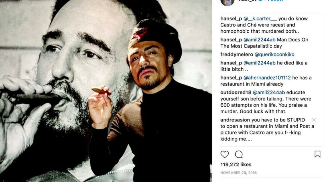 nusret gokce salt bae fidel castro instagram