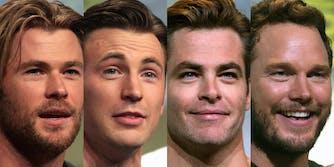 Chris Hemsworth, Chris Evans, Chris Pine, Chris Pratt