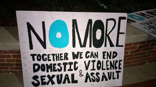 No More domestic violence campaign