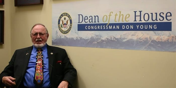 Alaskan Rep. Don Young (R) believes the Jewish people could've stopped the Holocaust with more guns.