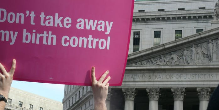 Planned Parenthood federal funding: A Planned Parenthood protest sign