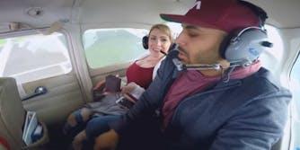 marriage proposal airplane vomit