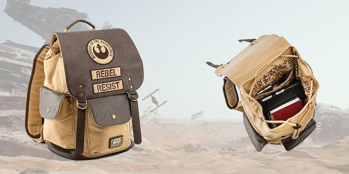 star wars rebel canvas backpack