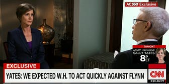 Former acting Attorney General Sally Yates speaks with CNN's Anderson Cooper.