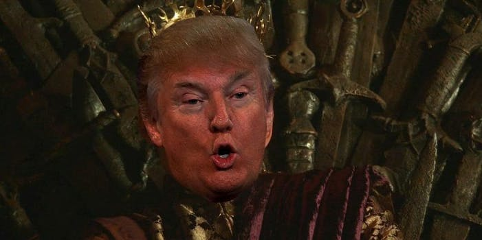 donald trump as king joffrey game of thrones