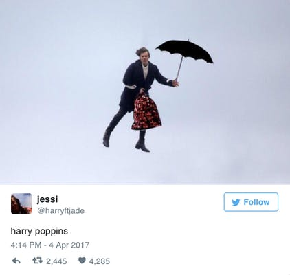 Flying Harry Styles meme
