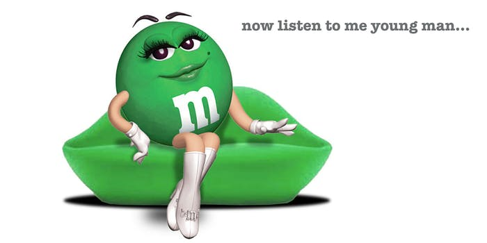 Green M&M meme takes over the internet.