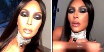 Kim Kardashian Aaliyah costume Halloween