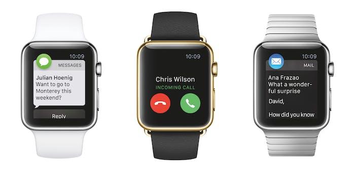 Three Apple Watch faces