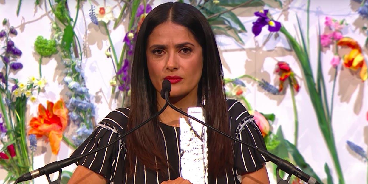 Salma Hayek wrote she was threatened when working on the Miramax Film Frieda.
