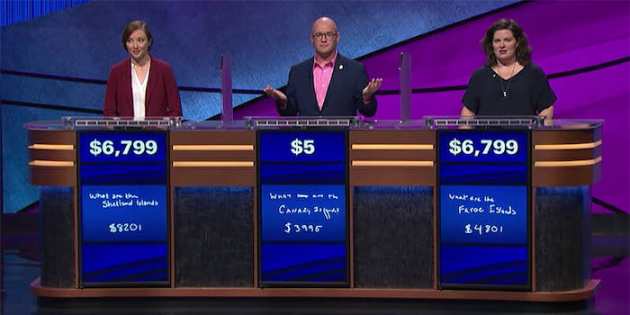 A 'Jeopardy!' tiebreaker clue was a rare event for the game show.