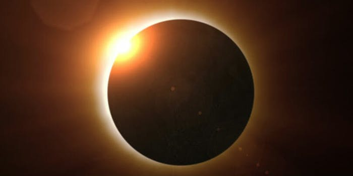 total solar eclipse totality space sun moon